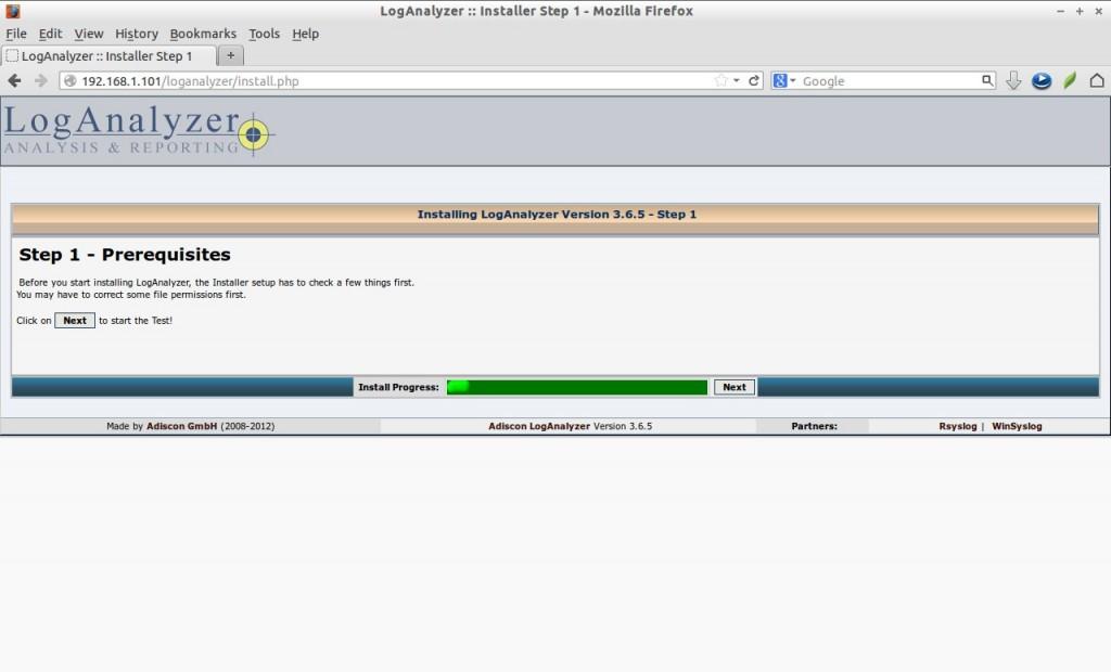 LogAnalyzer :: Installer Step 1 - Mozilla Firefox_002
