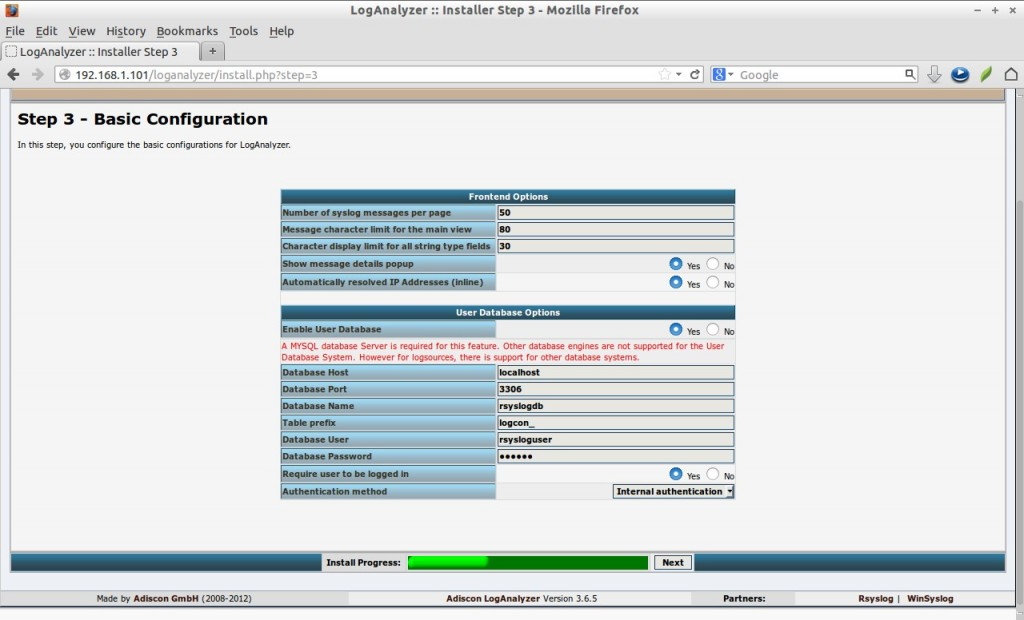 LogAnalyzer :: Installer Step 3 - Mozilla Firefox_008
