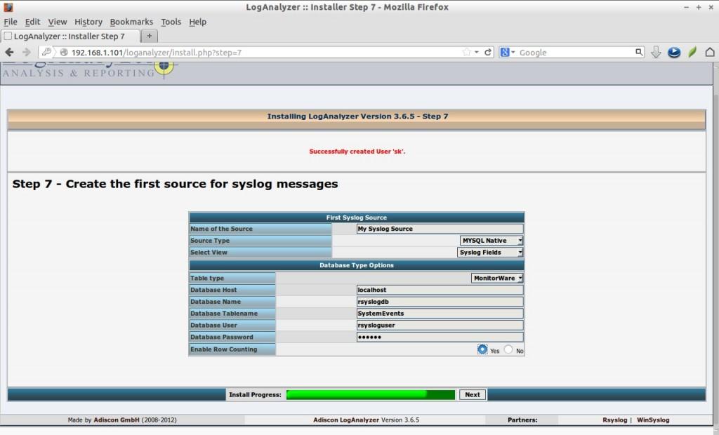 LogAnalyzer :: Installer Step 7 - Mozilla Firefox_015