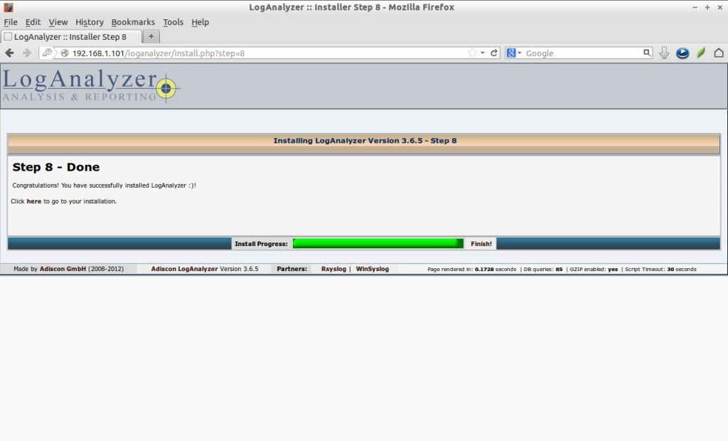 LogAnalyzer :: Installer Step 8 - Mozilla Firefox_017