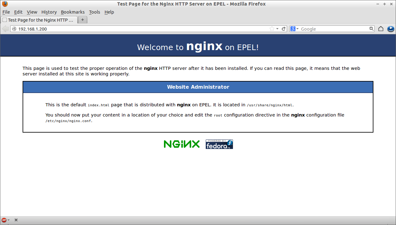 Test Page for the Nginx HTTP Server on EPEL - Mozilla Firefox_001