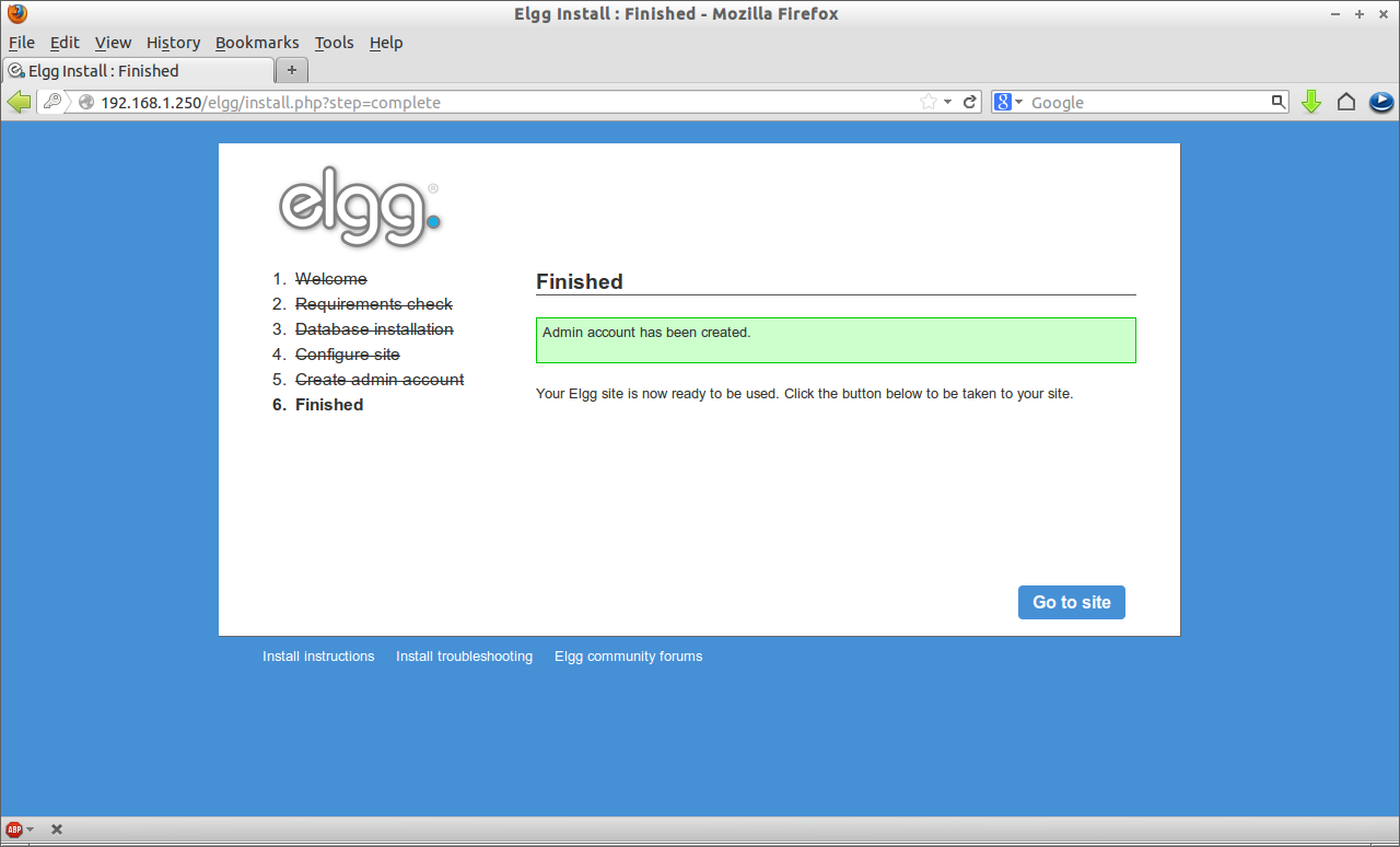 Elgg Install : Finished - Mozilla Firefox_007