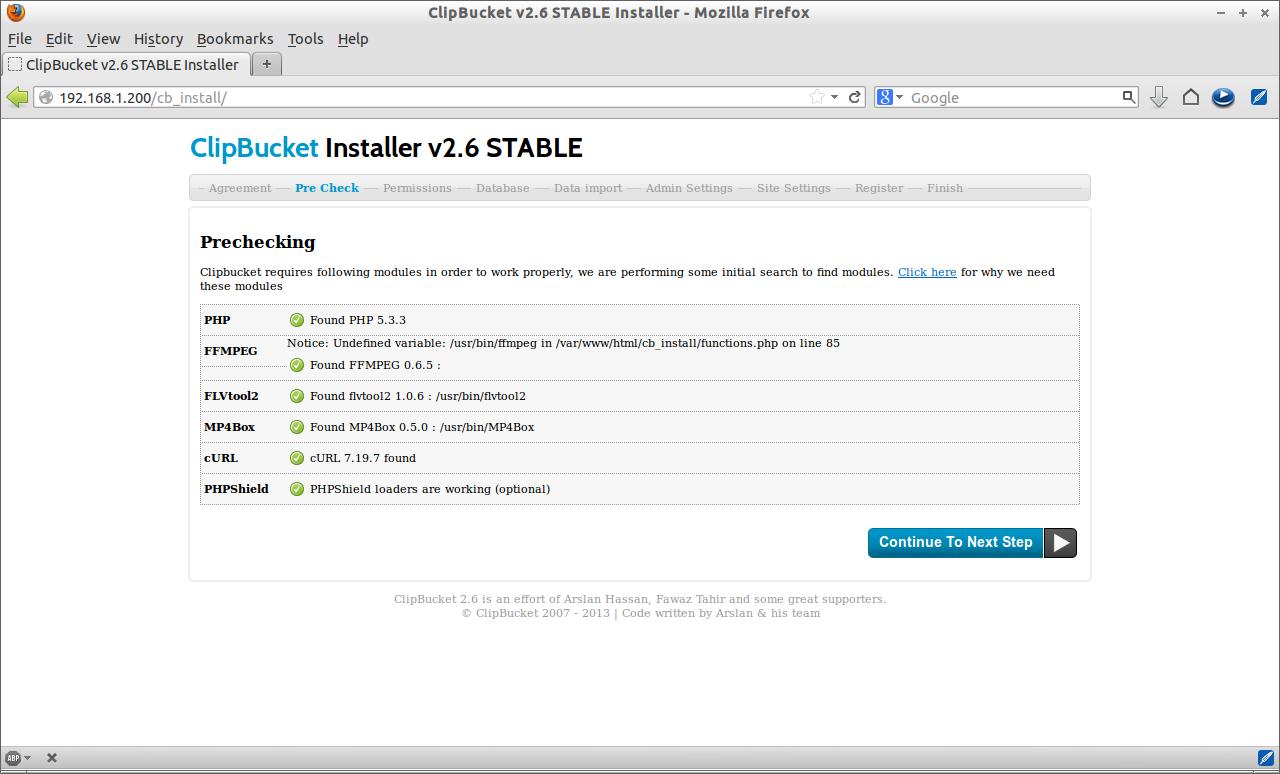 ClipBucket v2.6 STABLE Installer - Mozilla Firefox_002