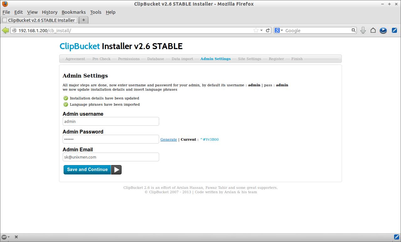 ClipBucket v2.6 STABLE Installer - Mozilla Firefox_005