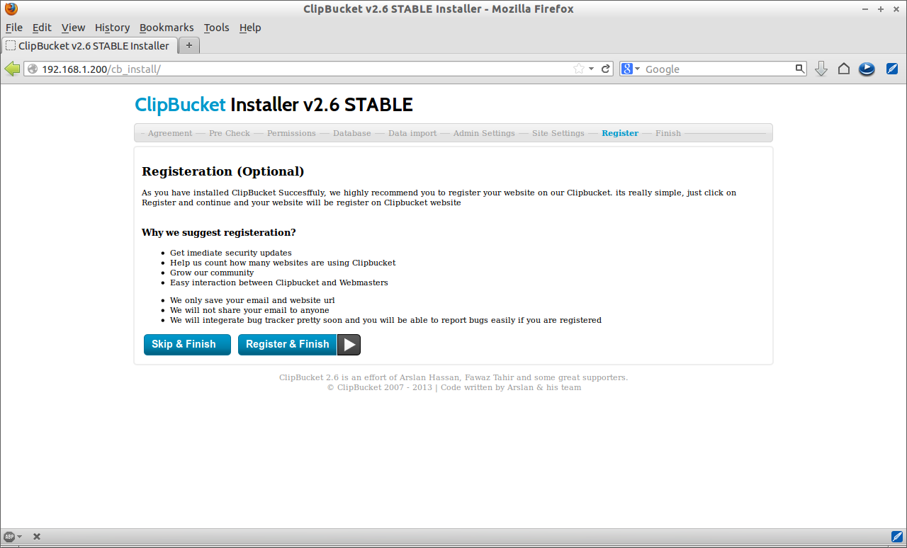 ClipBucket v2.6 STABLE Installer - Mozilla Firefox_007