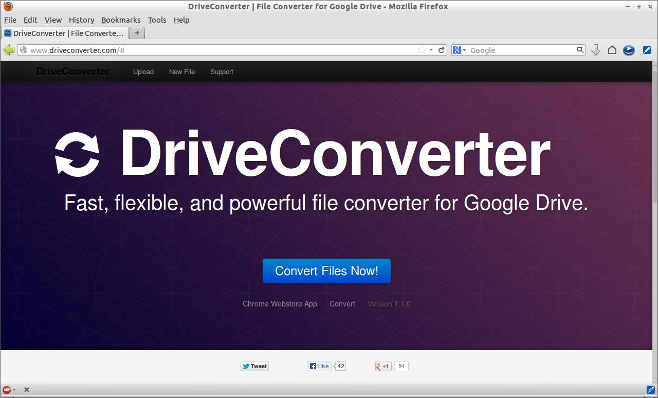 DriveConverter | File Converter for Google Drive - Mozilla Firefox_001