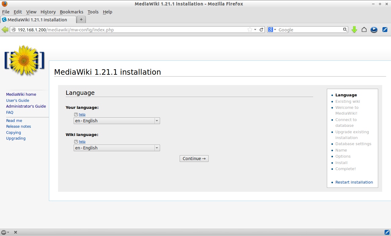 MediaWiki 1.21.1 installation - Mozilla Firefox_002