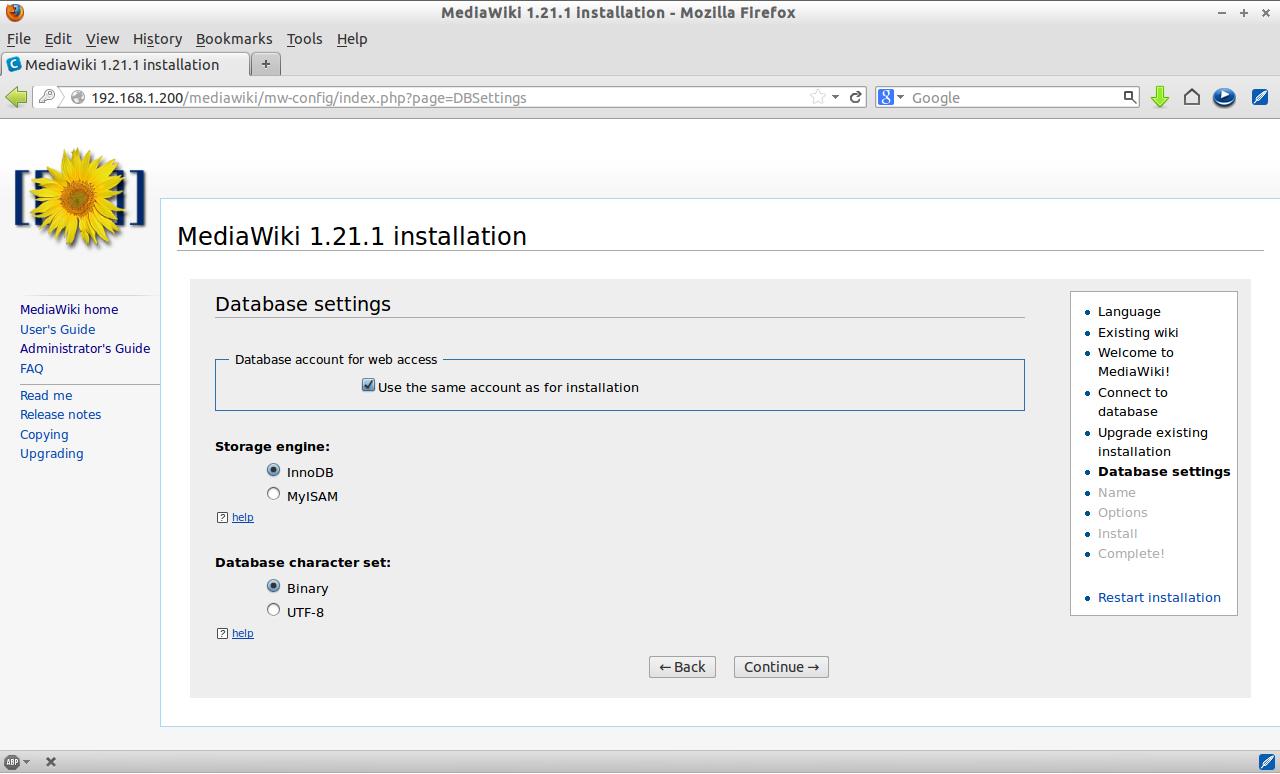 MediaWiki 1.21.1 installation - Mozilla Firefox_007