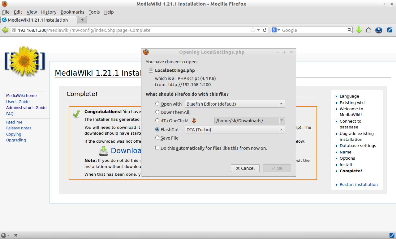 MediaWiki 1.21.1 installation - Mozilla Firefox_012