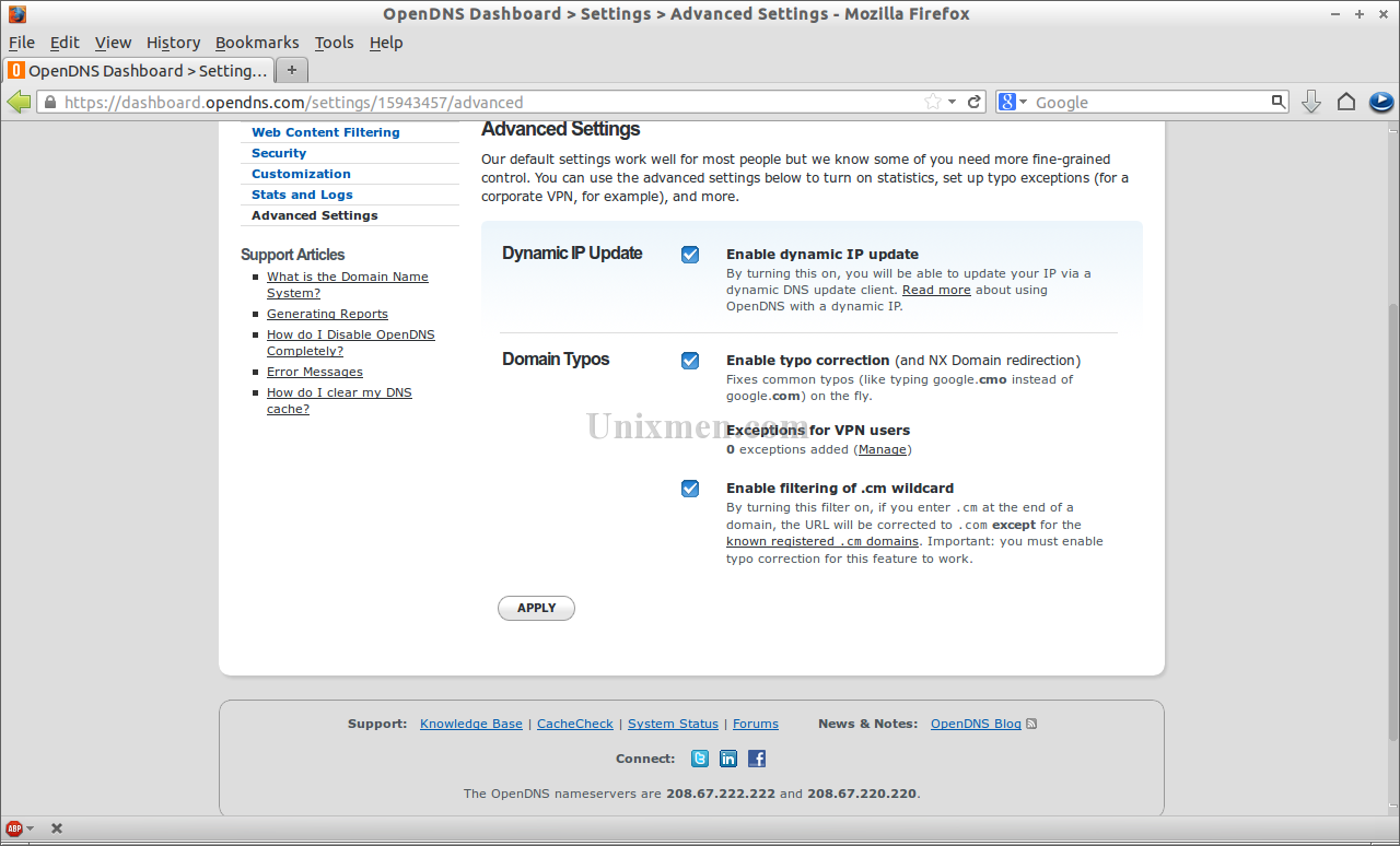 OpenDNS Dashboard - Settings - Advanced Settings - Mozilla Firefox_022