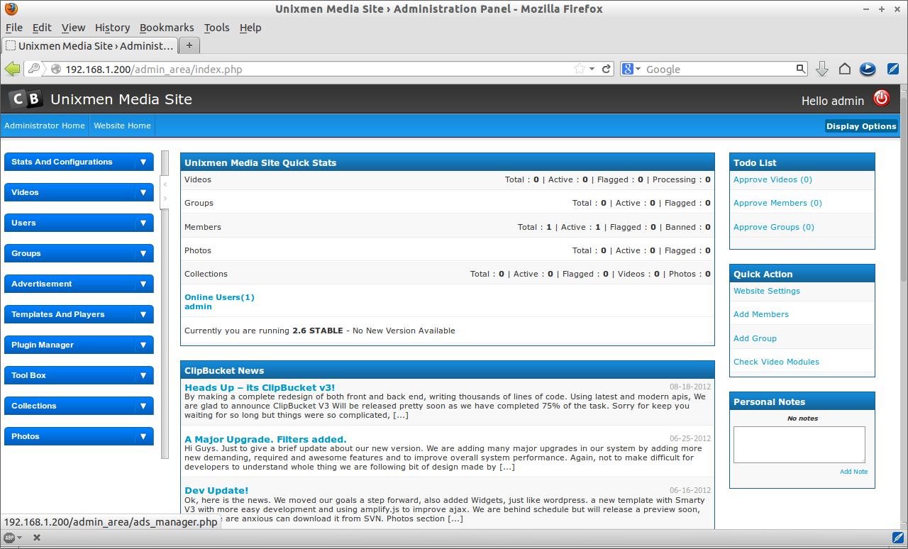 Unixmen Media Site › Administration Panel - Mozilla Firefox_010