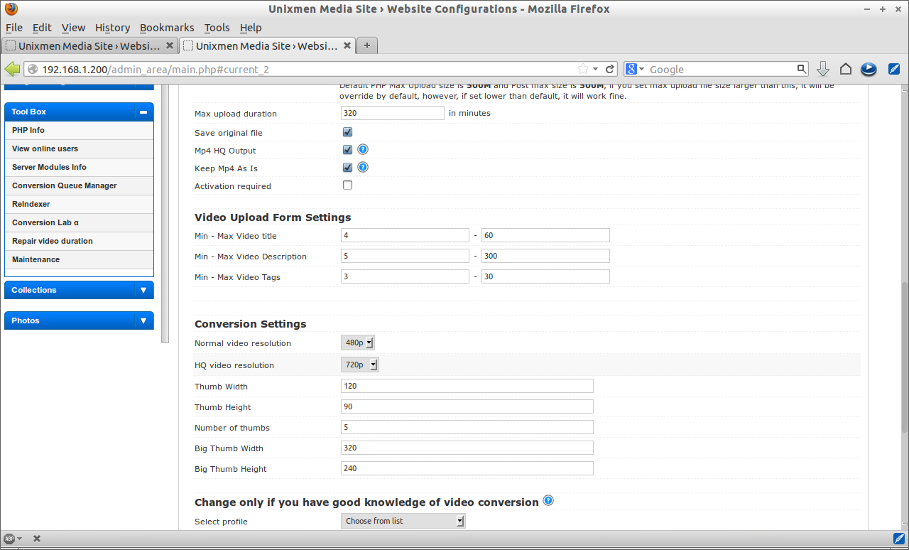 Unixmen Media Site › Website Configurations - Mozilla Firefox_024