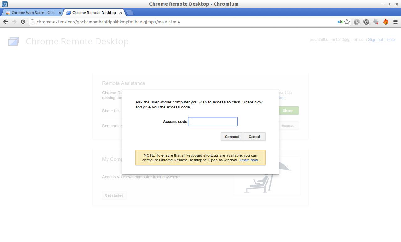 Chrome Remote Desktop - Chromium_011