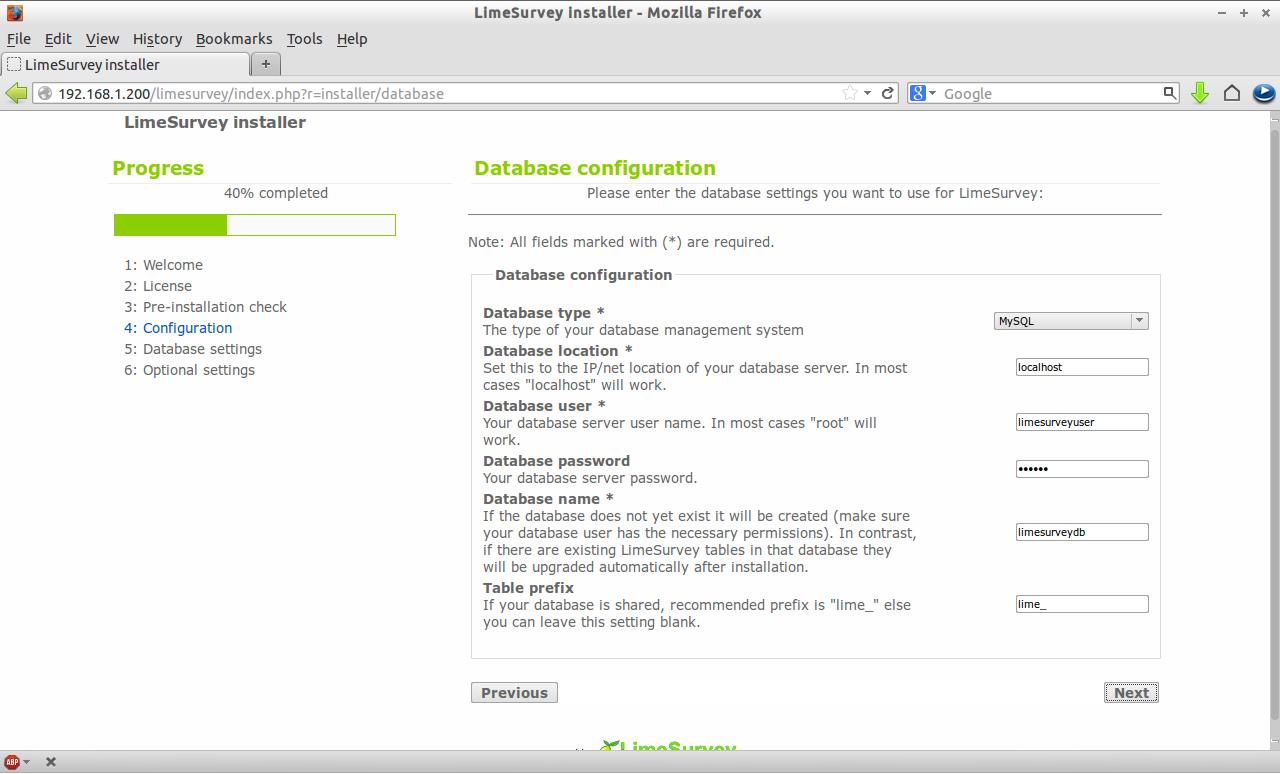 LimeSurvey installer - Mozilla Firefox_004