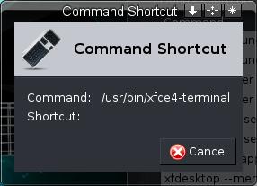 Command Shortcut Window