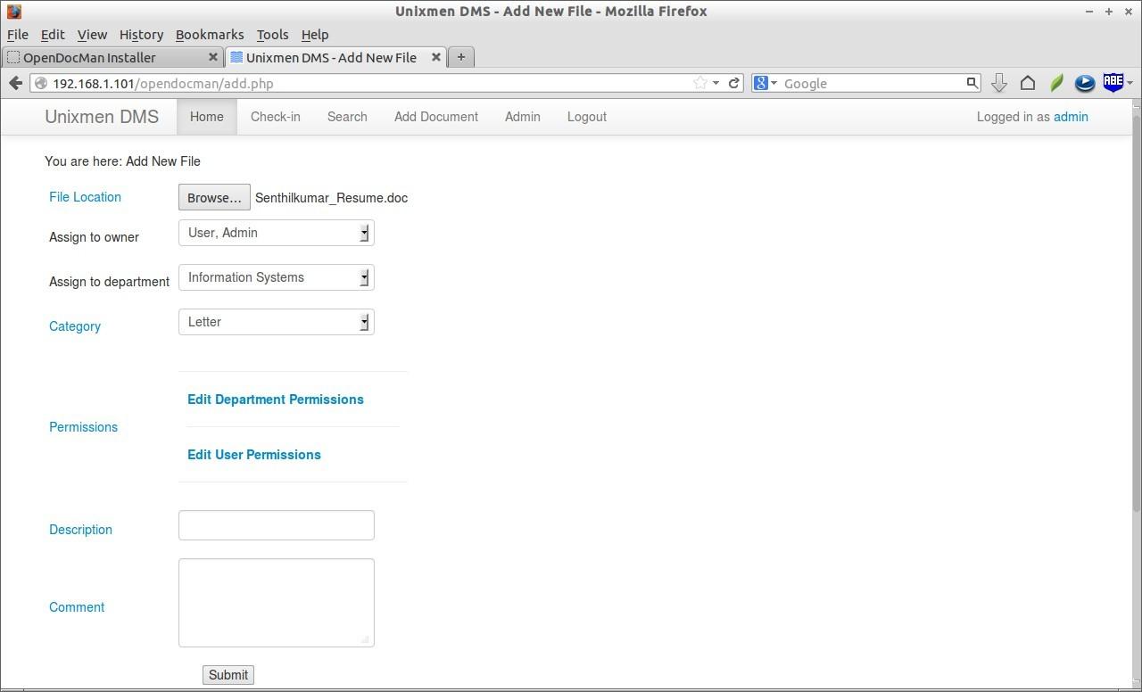 Unixmen DMS - Add New File - Mozilla Firefox_013