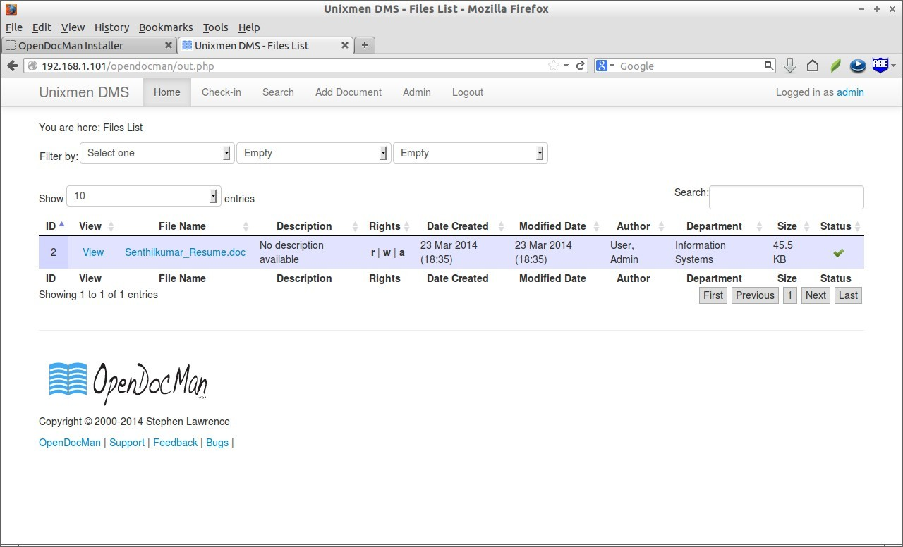Unixmen DMS - Files List - Mozilla Firefox_019