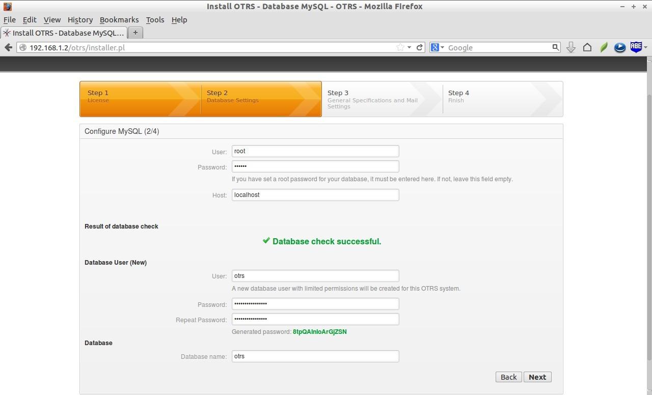 Install OTRS - Database MySQL - OTRS - Mozilla Firefox_006