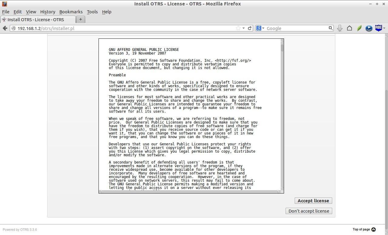 Install OTRS - License - OTRS - Mozilla Firefox_003