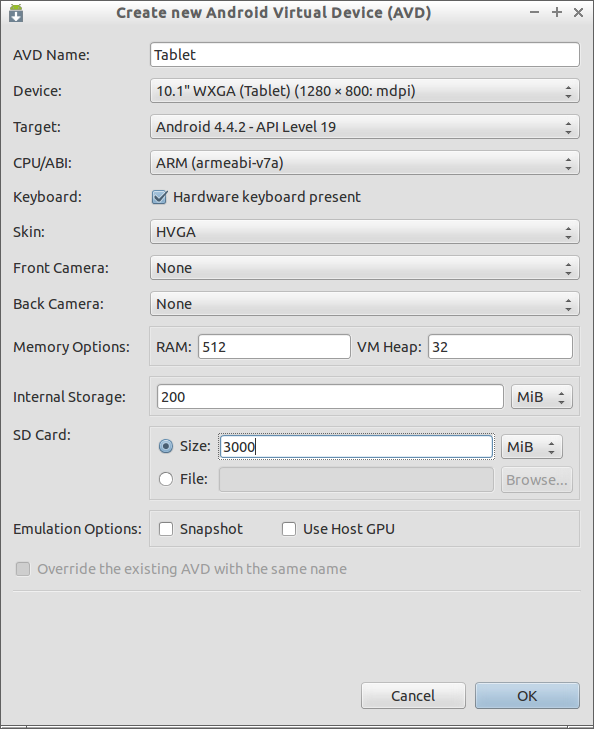 Create new Android Virtual Device (AVD) _016