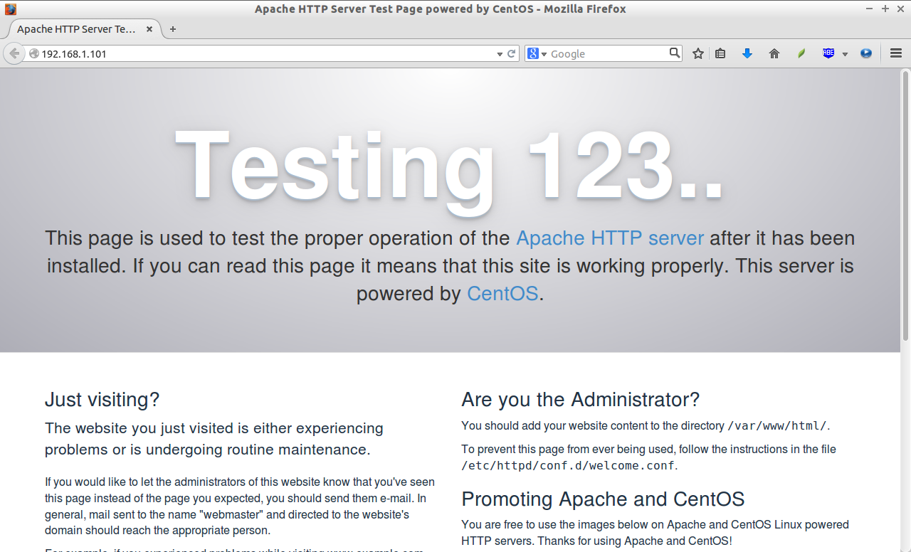 Apache HTTP Server Test Page powered by CentOS - Mozilla Firefox_001