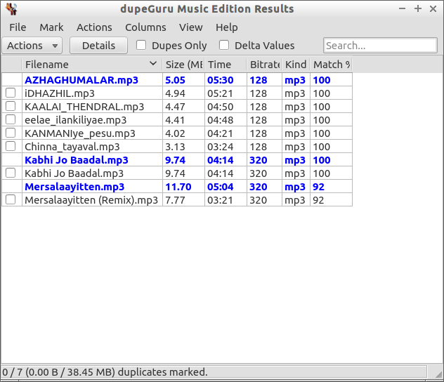 dupeGuru Music Edition Results_012