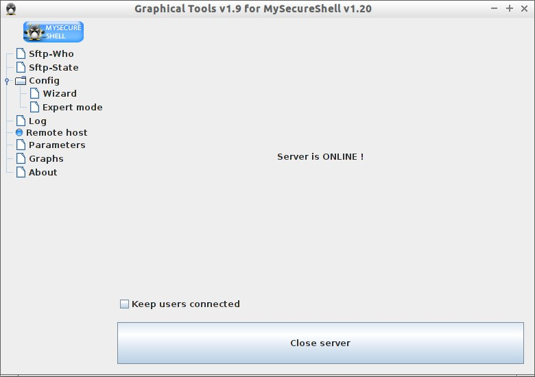 Graphical Tools v1.9 for MySecureShell v1.20_005