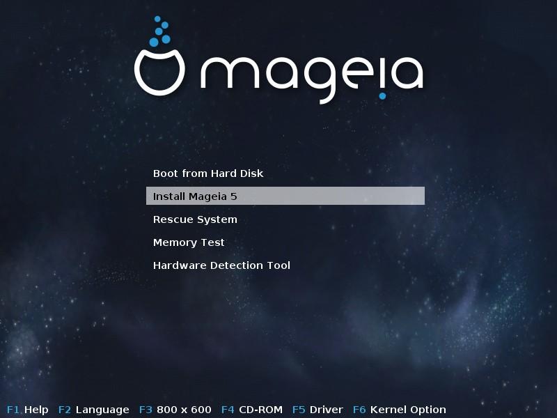 Mageia 5 [Running] - Oracle VM VirtualBox_001