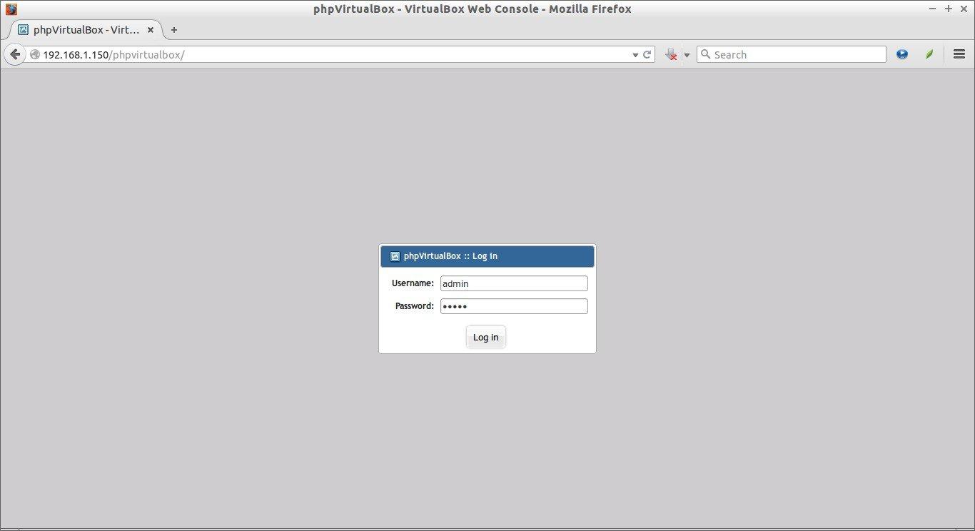 phpVirtualBox - VirtualBox Web Console - Mozilla Firefox_001