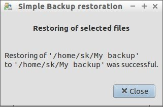 Simple Backup restoration_015