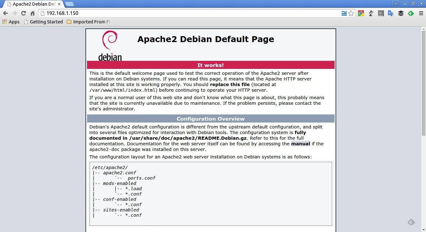 Apache2 Debian Default Page: It works - Google Chrome_001
