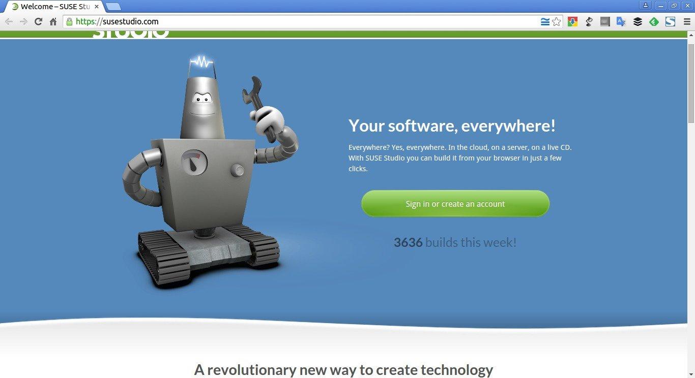 Welcome – SUSE Studio - Google Chrome_001