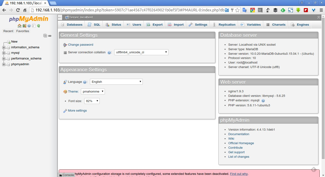192.168.1.103 - localhost | phpMyAdmin 4.4.13.1deb1 - Google Chrome_012
