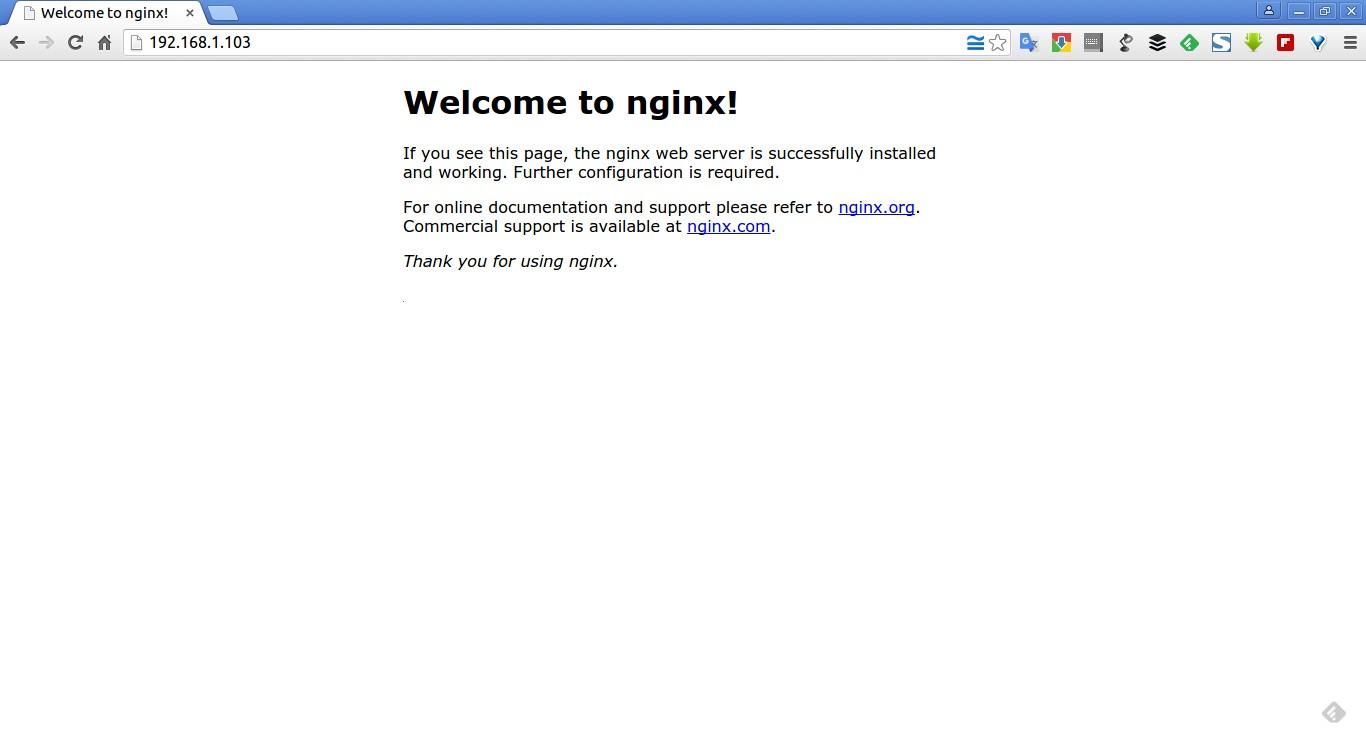 Welcome to nginx! - Google Chrome_001