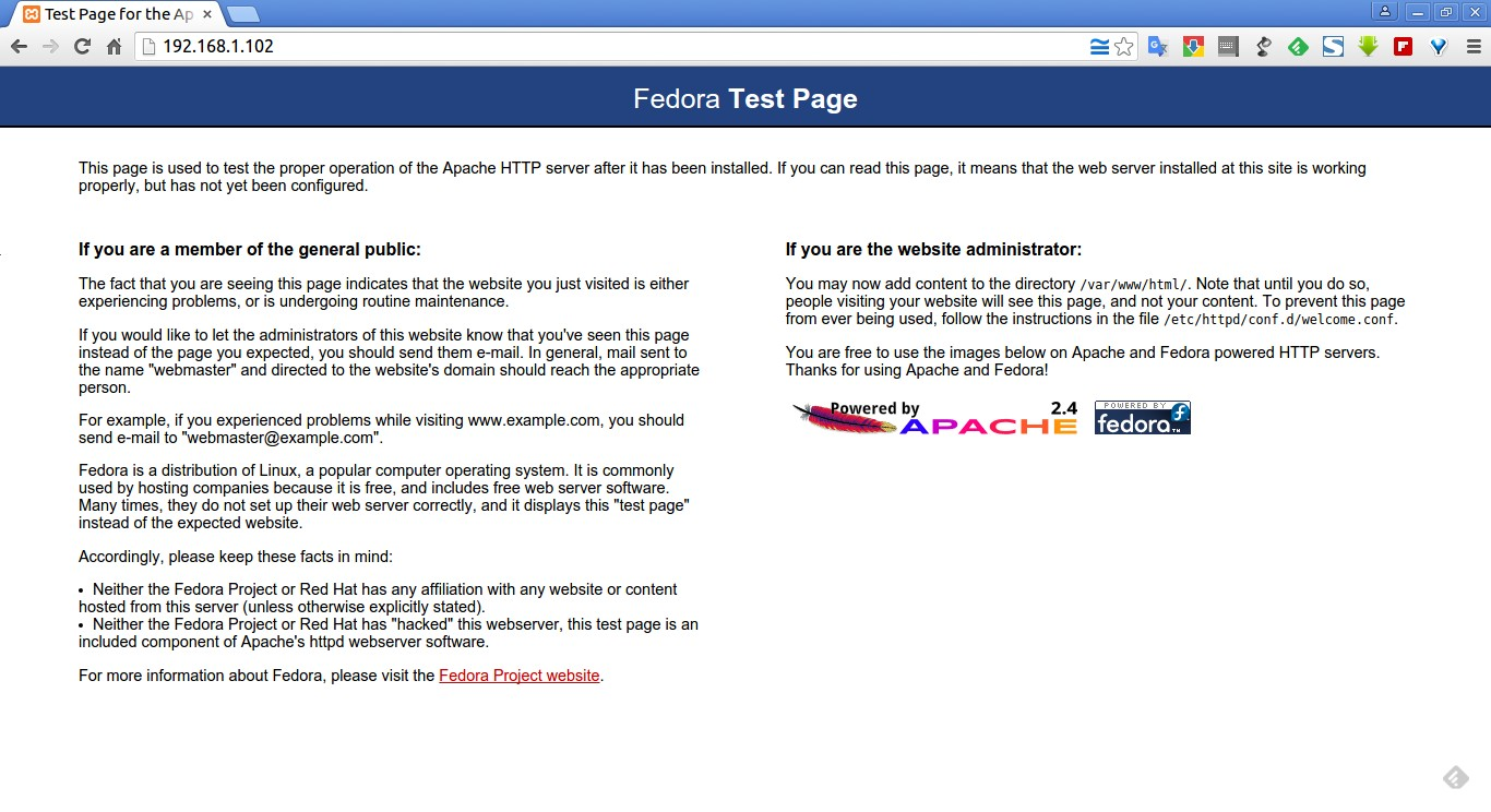 Test Page for the Apache HTTP Server on Fedora - Google Chrome_005