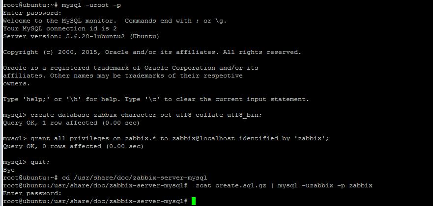 zabbix-database